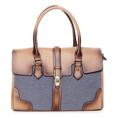 Trendy dámská kabelka do ruky modrá - MARIA C Delmare modrá