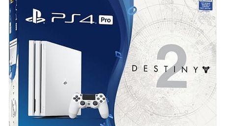 Herní konzole Sony PRO 1TB + Speciální edice s hrou Destiny 2 + PS Plus 14 dní + Thats You (PS719900566) bílá
