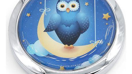 Kapesní kosmetické zrcátko Sweet Dreams kovové modré sova
