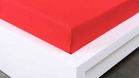 XPOSE ® Jersey prostěradlo Exclusive dvoulůžko - červená 200x220 cm