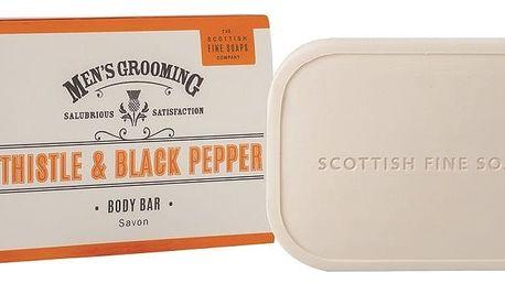 SCOTTISH FINE SOAPS Luxusní pánské mýdlo Thistle & Black pepper 100 g, oranžová barva, papír