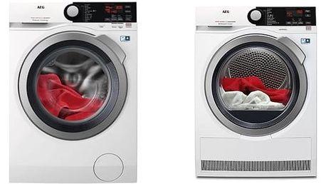 Set (Sušička prádla AEG AbsoluteCare® T8DBE68SC) + (Automatická pračka AEG ProSteam® L7FBE48SC) + DOPRAVA ZDARMA