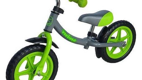 """Odrážedlo LIFEFIT PICCOLO 12"""" šedé/zelené + Reflexní sada 2 SportTeam (pásek, přívěsek, samolepky) - zelené v hodnotě 58 Kč"""