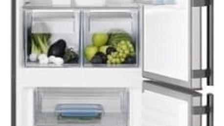 Kombinace chladničky s mrazničkou Electrolux EN3453OOX šedá/nerez