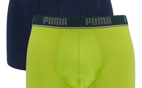 2PACK pánské boxerky Puma lime punch long L