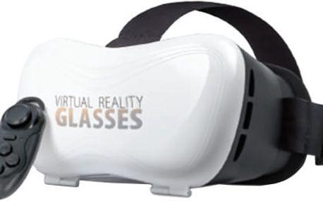 Forever VRB-100 3D brýle s ovladačem, bílá - HAPPY-3D-VRB100
