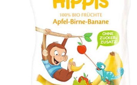6x HIPP HiPPiS BIO 100% ovoce Jablko-Hruška-Banán 100 g – ovocný příkrm
