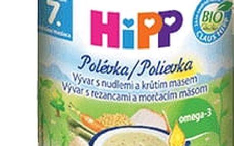 6x HIPP BIO Vývar s nudlemi a krůtím masem (190 g)