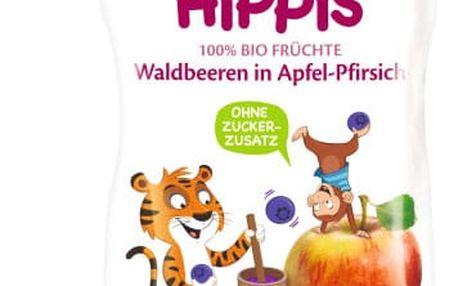 6x HIPP HiPPiS BIO 100% ovoce Jablko-Broskev-Lesní ovoce 100 g – ovocný příkrm