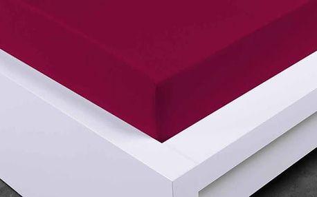 XPOSE ® Jersey prostěradlo Exclusive dvoulůžko - vínová 200x200 cm