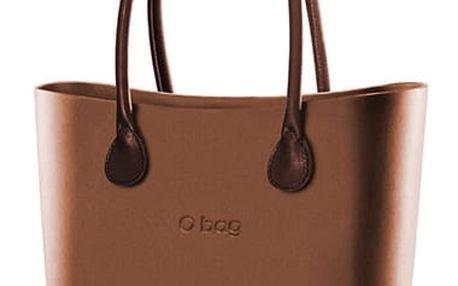 O bag kabelka Bronzo s hnědými koženkovými držadly