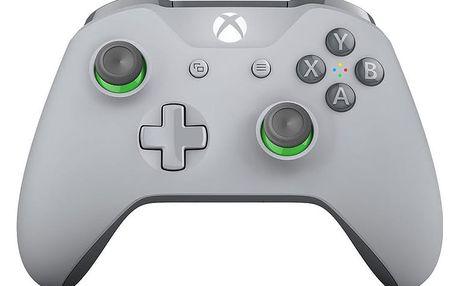 Xbox ONE S Bezdrátový ovladač, šedý/zelený (PC, Xbox ONE) - WL3-00073