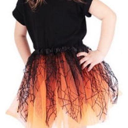 Dívčí karnevalová tutu sukně Čarodějnice