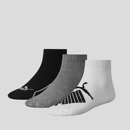 Ponožky Puma GRAPHIC QUARTER 3 Pack Bílá
