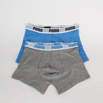Boxerky Puma Basic Boxer 2 Pack blue-grey Barevná