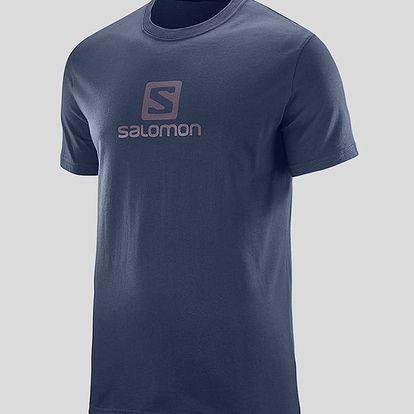 Tričko Salomon COTON LOGO SS TEE M Modrá