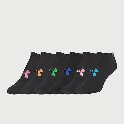 Ponožky Under Armour W Solid 6 Pack No Show Černá