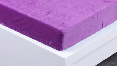 XPOSE ® Prostěradlo mikroflanel Exclusive dvoulůžko levandulová 180x200 cm