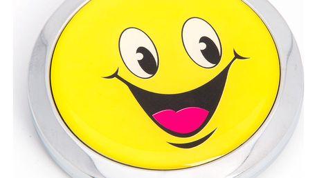 Kapesní kosmetické zrcátko Smích od srdce kovové