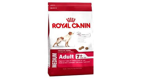 Granule Royal Canin Medium Adult +7 15 kg + Doprava zdarma