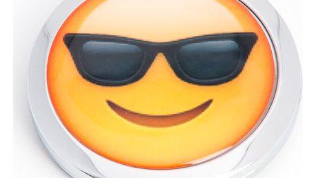 Kapesní kosmetické zrcátko Smile brýlích kovové