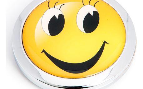 Kapesní kosmetické zrcátko Smile smajlík kovové
