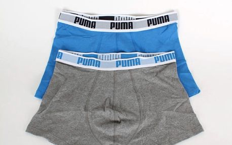 Boxerky Puma Basic Boxer 2 Pack blue-grey