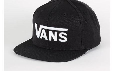 Kšiltovka Vans Mn Drop V Snapback H Black-White Černá