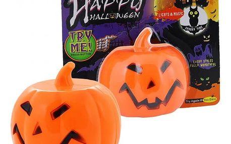 Halloweenská dekorace Dýně se zvukem a světlem