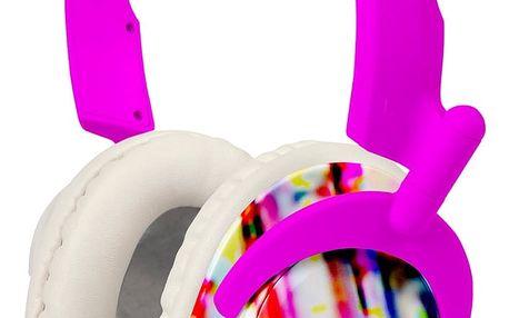 Sluchátka Koss RUK50, růžové, s hlavovým mostem