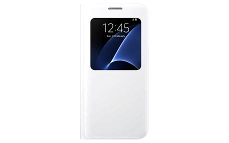 Pouzdro na mobil flipové Samsung S-View pro Galaxy S7 (EF-CG930P) (EF-CG930PWEGWW) bílé