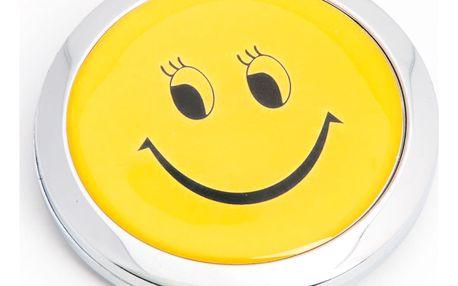 Kapesní kosmetické zrcátko Smile Pohodička kovové