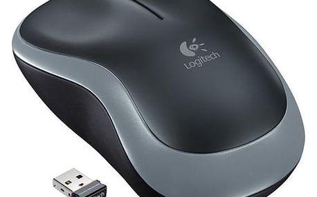 Myš Logitech M185 (910-002238) stříbrná / optická / 2 tlačítka / 1000dpi