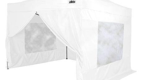 Zahradní párty stan STILISTA nůžkový + 4 stěny - bílá