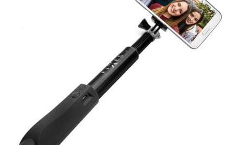 Teleskopická selfie tyč FIXED s BT spouští, černá - ★ Dodatečná sleva v košíku 20%,