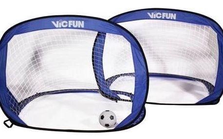 Fotbalová branka VicFun Pop Up goal set - rozkládací branky na fotbal modrá barva + Doprava zdarma