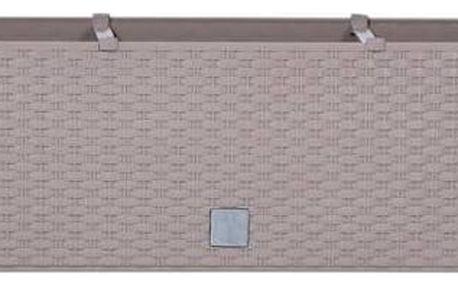 Truhlík samozavlažovací Prosperplast Rato case 80 x 33 x 32 cm moka + Doprava zdarma