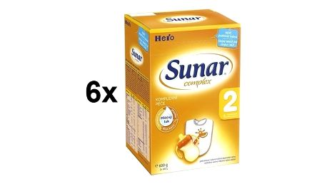 Kojenecké mléko Sunar Complex 2, 600g x 6ks + Dny Marianne sleva 10% + Doprava zdarma