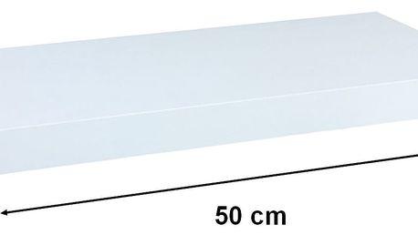 STILISTA VOLATO 31041 Nástěnná police - bílá 50 cm