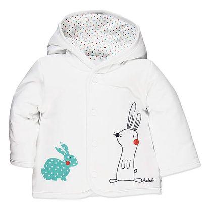 BOBOLI Oboustranný kabátek, vel. 68 cm - bílá, Unisex