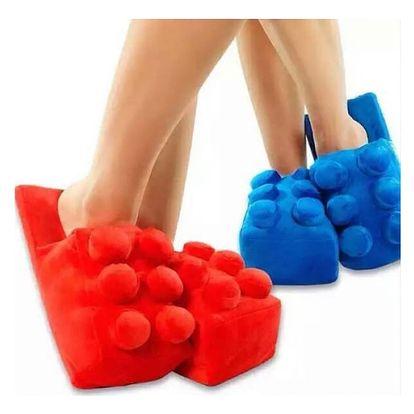 Plyšové papuče Lego