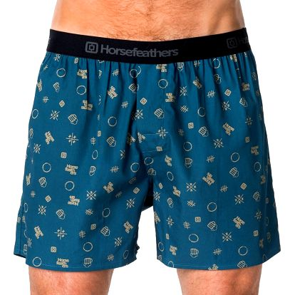 Pánské Trenky Horsefeathers Frazier Boxer Shorts Beer M