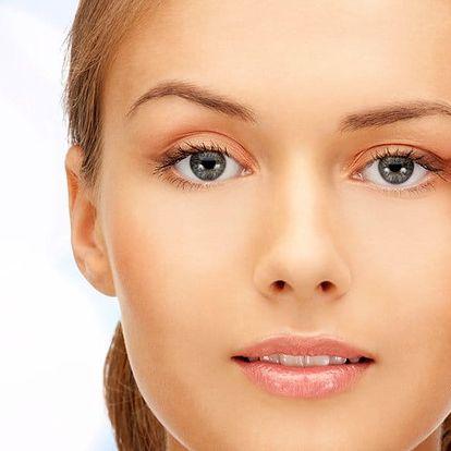 Vyhlazení očního okolí a pozvednutí víček