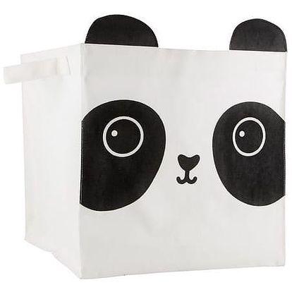 sass & belle Látkový úložný box Panda, černá barva, bílá barva, textil