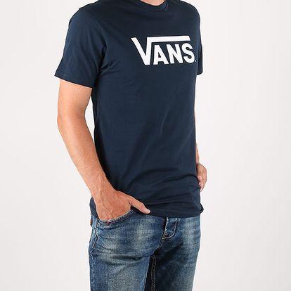 Tričko Vans MN CLASSIC NAVY-WHITE Modrá