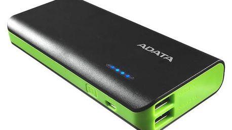Power Bank A-Data PT100 10000mAh (APT100-10000M-5V-CBKGR) černá/zelená