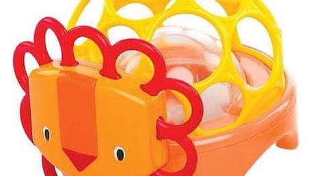 OBALL Hračka zvířátko Rollie Rattles™, 3m+ (lev)