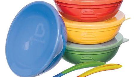 MUNCHKIN Set barevných misek s víčky a lžičkami, 10ks