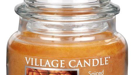 VILLAGE CANDLE Svíčka ve skle Spiced pumpkin - malá, oranžová barva, sklo