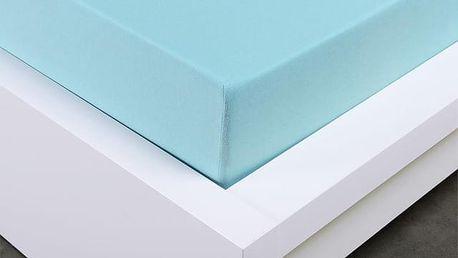 XPOSE ® Jersey prostěradlo Exclusive dvoulůžko - světle modrá 200x200 cm